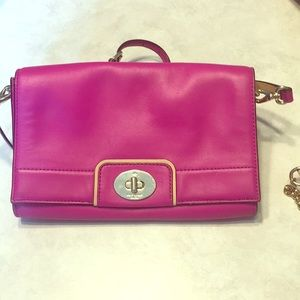 Hot pink kate spade crossbody purse